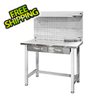 Seville Classics UltraHD Lighted Workcenter with Stainless Steel Top