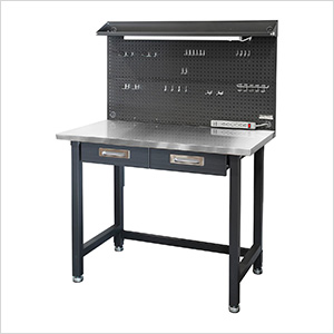 UltraHD Lighted Workcenter with Stainless Steel Top
