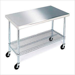 Stainless Steel Work Table with Casters