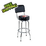 Busted Knuckle Garage Bar Stool with Backrest