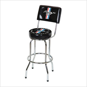 Ford Mustang Bar Stool with Backrest