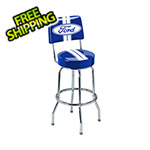 Ford Ford Stripes Bar Stool with Backrest