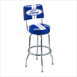 Ford Stripes Bar Stool with Backrest
