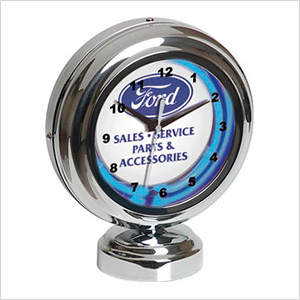 Ford Tabletop Neon Clock