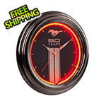 Ford Ford Mustang 50 Years Neon Clock
