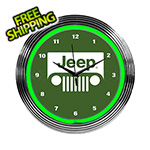 Neonetics 15-Inch Rolling Jeep Neon Clock