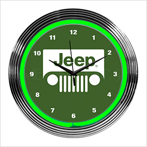 15-Inch Rolling Jeep Neon Clock