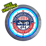 Neonetics 15-Inch Jeep The American Legend Neon Clock