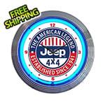 Neonetics 15-Inch Jeep The American Legend Neon Clock