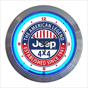15-Inch Jeep The American Legend Neon Clock