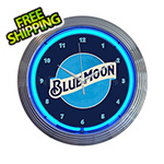 Neonetics 15-Inch Blue Moon Beer Neon Clock