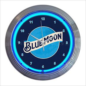 15-Inch Blue Moon Beer Neon Clock