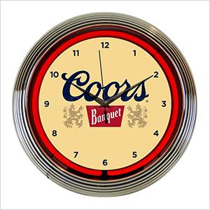 15-Inch Coors Banquet Beer Neon Clock