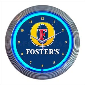 15-Inch Fosters Beer Neon Clock