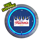 Neonetics 15-Inch Hamm's Beer Neon Clock