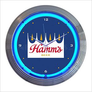 15-Inch Hamm's Beer Neon Clock
