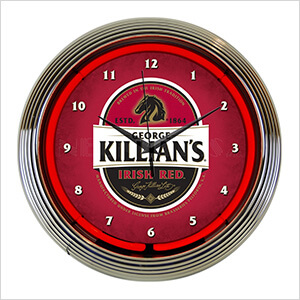 15-Inch Killian's Irish Red Beer Neon Clock