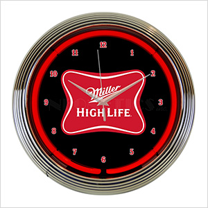 15-Inch Miller High Life Beer Neon Clock