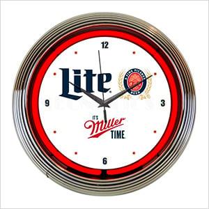 15-Inch Miller Lite Beer Neon Clock