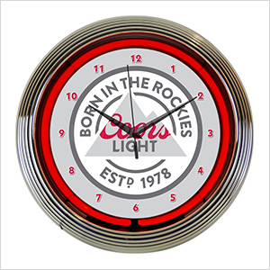 15-Inch Coors Light Beer Neon Clock
