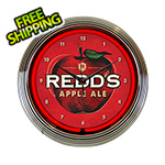 Neonetics 15-Inch Redds Apple Ale Beer Neon Clock