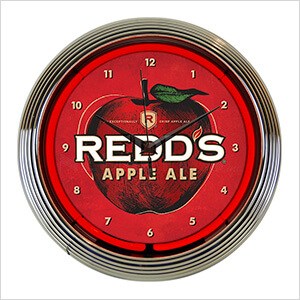 15-Inch Redds Apple Ale Beer Neon Clock
