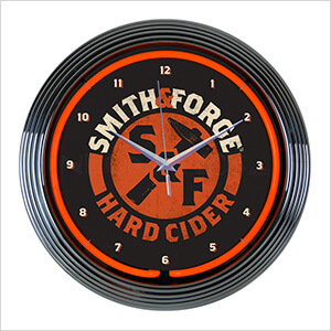 15-Inch Smith & Forge Hard Cider Neon Clock