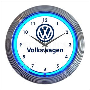 15-Inch Volkswagen Neon Clock