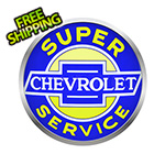 Neonetics 15-Inch Super Chevrolet Service Backlit LED Sign