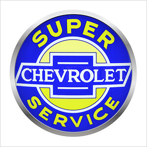 15-Inch Super Chevrolet Service Backlit LED Sign