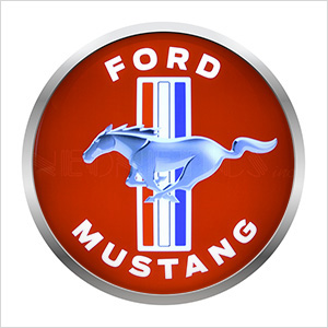 15-Inch Ford Mustang Backlit LED Sign