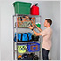 """NSF 5-Tier Wire Shelving Rack with Wheels - 36""""W x 72""""H x 18""""D"""