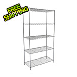 "SafeRacks NSF 5-Tier Wire Shelving Rack - 30""W x 60""H x 14""D"