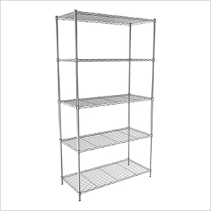 "NSF 5-Tier Wire Shelving Rack - 30""W x 60""H x 14""D"
