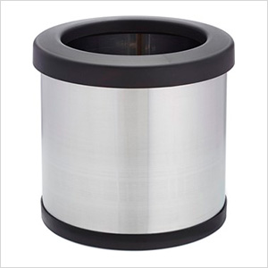 Shop-Can 4 Gallon Stainless Steel Trash Can with Open Lid