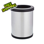 Shop-Vac Shop-Can 6 Gallon Stainless Steel Trash Can with Open Lid