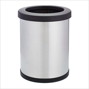 Shop-Can 6 Gallon Stainless Steel Trash Can with Open Lid