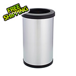 Shop-Vac Shop-Can 8 Gallon Stainless Steel Trash Can with Open Lid