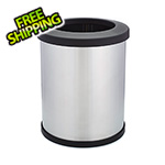 Shop-Vac Shop-Can 10 Gallon Stainless Steel Trash Can with Open Lid