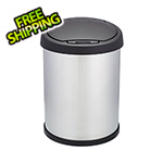 Shop-Vac Shop-Can 10 Gallon Stainless Steel Trash Can with Spring Lid