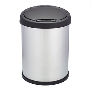 Shop-Can 10 Gallon Stainless Steel Trash Can with Spring Lid