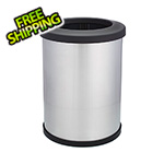 Shop-Vac Shop-Can 12 Gallon Stainless Steel Trash Can with Open Lid