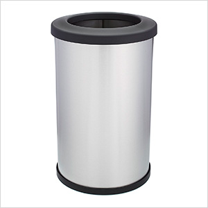 Shop-Can 14 Gallon Stainless Steel Trash Can with Open Lid