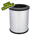 Shop-Vac Shop-Can 16 Gallon Stainless Steel Trash Can with Open Lid