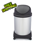 Shop-Vac Shop-Can 16 Gallon Stainless Steel Trash Can with Spring Lid and Casters
