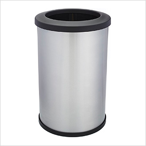 Shop-Can 20 Gallon Stainless Steel Trash Can with Open Lid