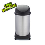 Shop-Vac Shop-Can 20 Gallon Stainless Steel Trash Can with Spring Lid and Casters