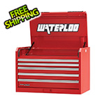 Waterloo 36-Inch Professional HD Series 5-Drawer Red Tool Chest