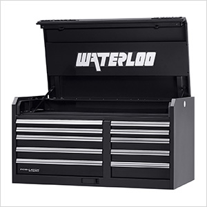 46-Inch Professional HD Series 10-Drawer Black Tool Chest