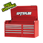 Waterloo 46-Inch Professional HD Series 10-Drawer Red Tool Chest